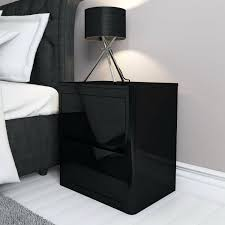 side tables small black bedside table tables drawers and cabinets high gloss 2 drawer