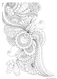 Flower Mandala Coloring Pages For Adults Intricate Flower Coloring