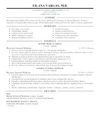 Doctor Resumes Doctor Resume Template Physician Medical Curriculum Vitae Cv