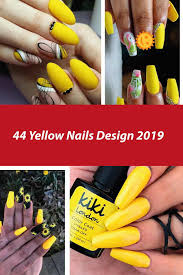Red And Yellow Nail Designs 44 Yellow Nails Design 2019