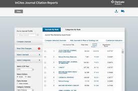 Ya Están Disponibles Los Journal Citation Reports Jcr Y Scimago
