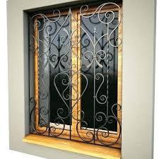 iron window burglar bars security decorative ideas wrought faux inserts diy fau