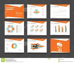 Presentation Design Templates Orange Infographic Business Presentation Template Set