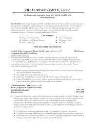 Lmsw Resume Sample