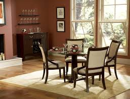 decorating ideas dining room. A Mesmerizing Formal Dining Room Decorating Ideas In Red With Round Glass Table Curved Back Chairs