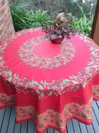 63 inches round oilcloth from provence