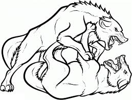 Fighting Wolves Coloring Pages For Kids