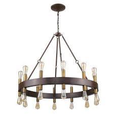 24 light wood finish wagon wheel chandelier