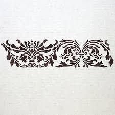 wall border stencils pattern 009
