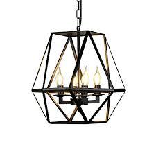 Image Bronze Susuo Lighting Industrial Vintage 4lights Candle Chandeliers Large Size Cage Lamp Rustic Art Decor Amazoncom Large Pendant Lights Amazoncom