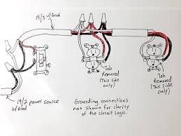 split receptacles home improvement forum the diagram shows a middle of the run and an end of the run duplex plugin if you wanted more you would just wire each one in the middle the same as the