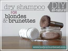 diy all natural dry shampoo for blondes brunettes