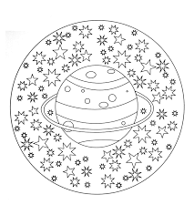 Mandala Coloring Pages For Kids Free Mandala To Color Planet Stars