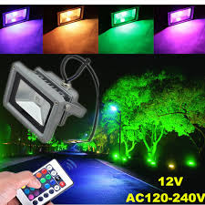 10w outdoor garden light waterproof rgb color changing flashlight 12 volt outdoor landscape lighting in floodlights from lights lighting on aliexpress com