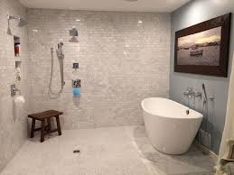 Contemporary Master Bathroom With Freestanding Bathtub By Lori - Contemporary master bathrooms
