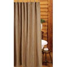 black shower curtains. Primitive York Ticking Shower Curtain - Black Curtains