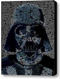 Darth Vader Quotes Amazing Amazon Star Wars Darth Vader Quotes Mosaic Incredible Framed