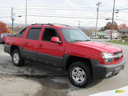 2003 Victory Red Chevrolet Avalanche 1500 Z71 4x4 #20735343 Photo ...