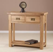 small hall table with drawers. Small Oak Wood Console Table With Storage And 2 Drawers Brass For Measurements 1333 X Hall R