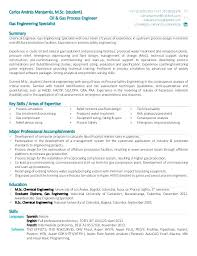 Sample Resume For Process Engineer Chemical Process Engineer Resume Sample Safety Student Oil Gas Eng