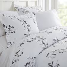 becky cameron simple vine patterned duvet cover set king simple vine gray
