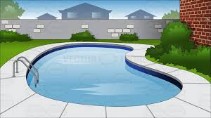 Backyard Swimming Pool Background Cartoon Clipart Vector Toons