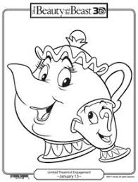 Small Picture Free Beauty and the Beast Printable Coloring Pages