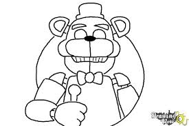 how to draw five nights at freddy s step 12