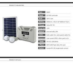 portable 6w solar home light system usb output for camping hiking home use lamps