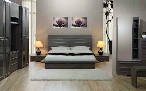 Modern Bedroom Wall Decor Decorations Grey Bedroom Decor With Silver Transitional Metal Bed