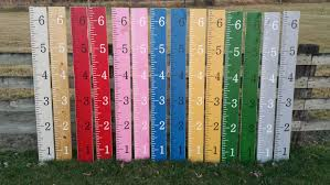 Giant Measuring Stick Growth Chart Celycasy Wood Growth Chart Ruler Hand Painted Homemade Giant