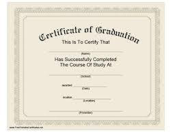 40 Graduation Certificate Templates Diplomas Printable