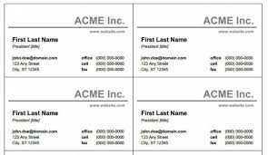 Free Business Card Template For Word Word Free Business Card Template Sdrujenie Com