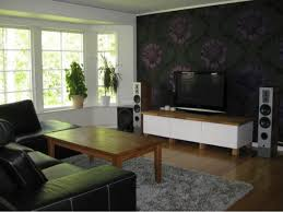 Idea Living Room Modern And Black Sweet Living Room Interior Design With Tv
