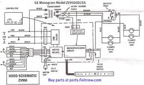 wiring diagrams and schematics appliantology ge monogram vent hood model zv950sd2ss schematic