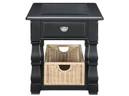 Plantation Cove Bedroom Furniture Plantation Cove Black End Table With Baskets American Signature
