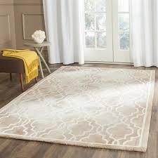 safavieh dip dye hand tufted wool beige and ivory area rug lowe s canada