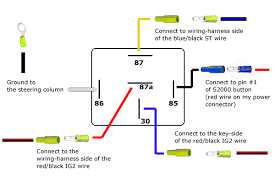 net s starter button version relay wiring details