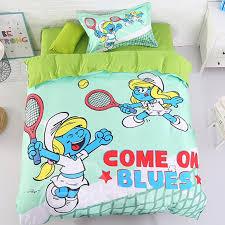 u s only tennis smurfette 4 piece light green bedding sets duvet covers