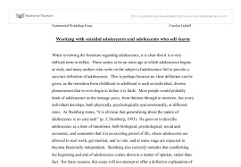 working suicidal adolescents and adolescents who self harm  document image preview