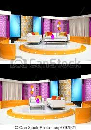 tv studio furniture. Tv Studio Design - Csp6797921 Furniture