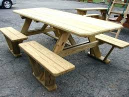 build a picnic table hexagon plans for free how to with built in cooler build a picnic table