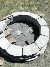 making a fire pit mde ptio ides nd diy out of bricks glass burner pan