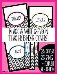 Free Editable Binder Covers And Spines Second Teacher Binder Templates Data Printables Free Girly