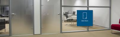 glass doors in an office