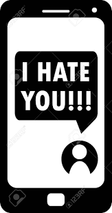 あなたのスマート フォン黒と白のベクトルオンラインの侵略と屈辱のイラストやアイコンでメッセージ Web