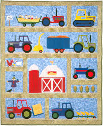 On The Farm Baby Quilt Pattern by Country Quilter Barn Tractors ... & On The Farm Baby Quilt Pattern by Country Quilter Barn Tractors Adamdwight.com