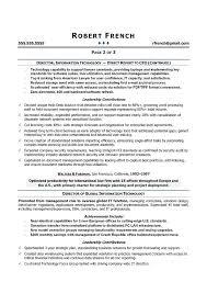 Cio Sample Resume Chief Information Officer Resume It Executive