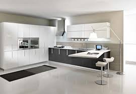 modern white kitchen design. Natural Black And White Kitchen Designs For Inspiration With Cleany Floor Pendant Lamp Modern Design