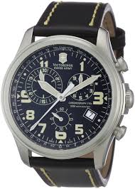 victorinox swiss army 241314 s watch quartz chronograph leather victorinox swiss army 241314 s watch quartz chronograph leather strap black victorinox swiss army amazon co uk watches